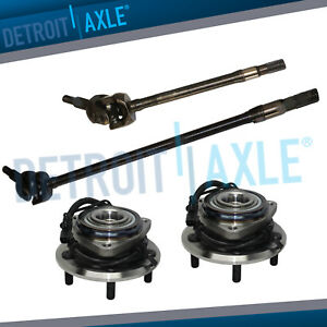 Front Wheel Bearing Pair U joint Axle Shafts For 2007 2016 Jeep Wrangler Dana 30