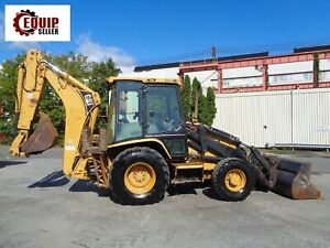 Caterpillar 420d Backhoe Loader Enclosed Cab Extendahoe