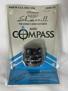 Nos Vintage sherrill Auto Compass Black Sherrill The Worlds Most Accurate