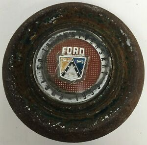 Vintage Ford Steering Wheel Horn Button 50th Anniversary 1903 1953 Chrome