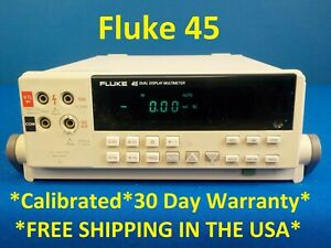 Fluke 45 Dual 5 digit Vacuum Fluorescent Display Multimeter