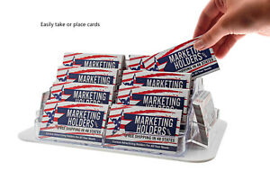 Business Card Holder Rotating 18 Pocket Clear Countertop Display Qty 6