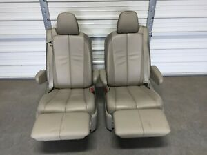 2011 2019 Toyota Sienna 2nd Rear Bucket Seat Recliner Seats Leather Footrest