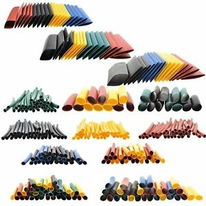 328pc 2 1 Heat Shrink Tubing Tube Sleeve Wrap Wire Assortment 8 Size