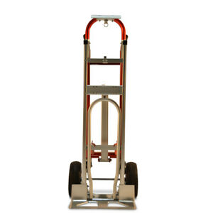 Heavy Duty 1000 Lbs Capacity 4 In 1 Hand Truck Dolly Cart Aluminum Steel Mover