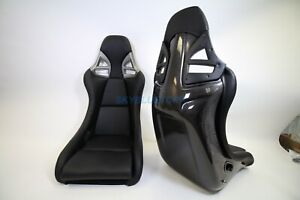 For Porsche 997 Style Gt3 2 Pair Seats Black Leather Carbon Fiber Cf Shell Obo