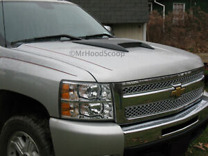 Hood Scoop For Chevy Silverado 2007 2013 Mrhoodscoop Hs0010 Painted