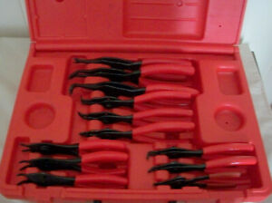 Snap On Ring Pliers 12 Pcs With Case Srpc112 With Case