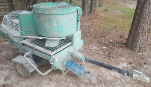 Imer Step Up 120 Gunite Shotcrete Concrete Spray Pump W mixer Trailer Hoses