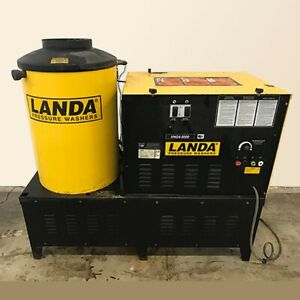 Used Landa Vhg4 30024h Natural Gas 4gpm 3000psi Hot Water Pressure Washer