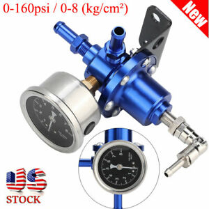 0 160psi 0 8 Kg Cm Adjustable 1 1 Kpa Oil Gauge Fuel Pressure Regulator Kit