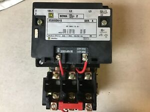 Square D 8536sdo1s Size 2 Motor Starter With 120 Volt Coil nib