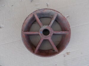 Vintage Industrial Cast Iron 8 Dia X 2 Wide 1 Center Caster Wheel Steampunk