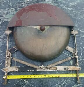 Vintage Henschel Corp Brass U S Navy Ship S Alarm Bell Tug Early Huge 17