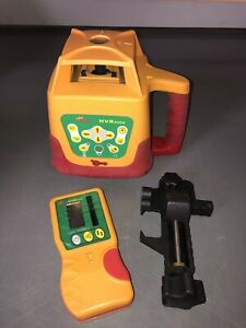 Nos Pls Hvr505g Green Rotary Laser With Hvd505g Detector Clamp