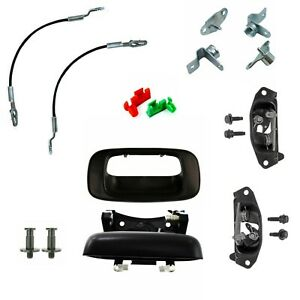 New Tailgate Handle Hinge Latch Striker Cable Kit For 99 07 Silverado Sierra