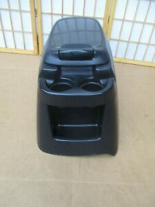 99 07 Ford F250 F350 Pickup Truck Black Center Drink Cup Holder Storage Console