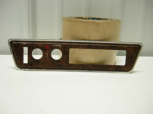 1968 72 Olds Cutlass Orig Gm Factory Installed Under Dash 8 Track Face Plate