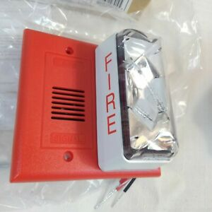 Edwards Fire Horn Strobe 2450hs 15 75 Candela Red New In Box