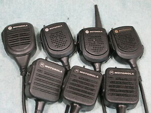 Lot Of 7 Motorola Speaker Microphone For Uhf Vhf Radio Xts3000 Xts5000 Xts2500