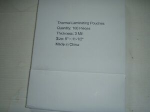 Thermal Laminating Pouches 3 Mil 9 x11 1 2 100 Count