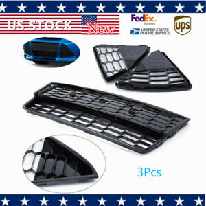Fits 2012 2013 2014 Ford Focus Front Bumper Lower Grille Honeycomb 3pcs