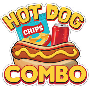 Hot Dog Combo Decal Concession Stand Food Truck Sticker