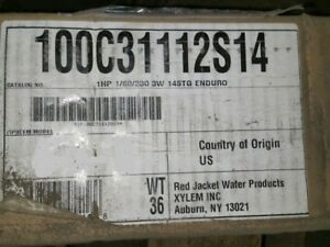 1hp 1 60 230 3 Wire Deep Well Pump Red Jacket Enduro Well Pump 100c31112s14 Nos