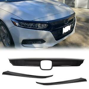Abs Glossy Black Lip Front Grille Cover Moulding Trim For Honda Accord 2018 20