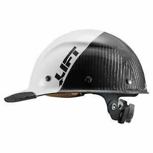Lift Safety Dax Carbon Fiber Cap Style Hard Hat With Ratchet Suspension White