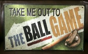 Baseball Embossed Tin Metal Sign Sports Decor