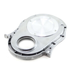 Chevy Bbc 454 Gen 1 4 2 Piece Aluminum Timing Chain Cover W Inspection Plate