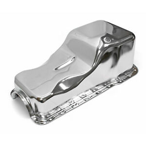 Ford 351w Windsor Front Sump Chrome Oil Pan