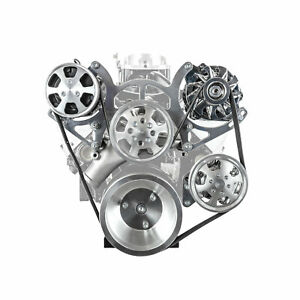Chevy Sbc 350 Aluminum Serpentine Complete Engine Pulley Components Kit