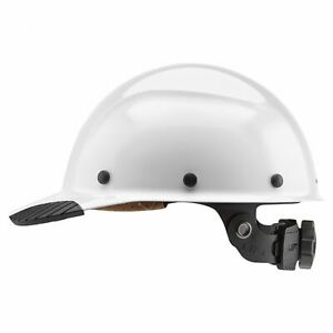 Lift Safety Dax Fiber Resin Cap Style Hard Hat With Ratchet Suspension White