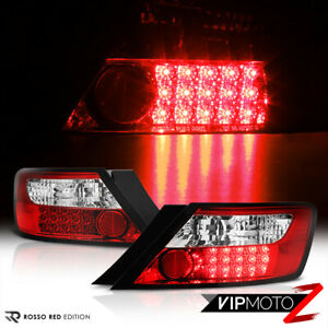 For 06 11 Honda Civic Fg 2d Coupe Red clear Led Rear Brake Lamp Tail Lights Pair