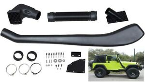 Cold Snorkel Kit For 1992 1999 Jeep Wrangler Ram Intake System 4wd Tj 4 0 I6