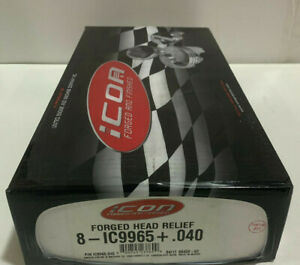 Ic9965040 Icon Forged Pistons 383 Sb Chevy 4 040 Bore 9 5to1 Comp 18cc Dish