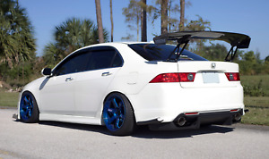 Js Racing Style 04 05 06 07 08 2004 2008 Acura Tsx Rear Diffuser Kit Spoiler Cl7
