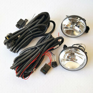 Front Fog Light Kit Fit Gmc 07 12 Acadia 07 14 Yukon Clear Lens Switch Wire Bulb
