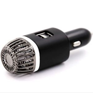 Car Air Purifier With 2x Ultra Fast Usb Charging Ports Removes Bad Smells Smoke