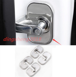 4pcs Stainless Steel Car Door Lock Protection Cover For Tesla Model S 2014 2019
