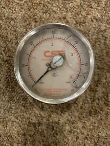 Cse 0 60 Psi Pressure Gauge With 1 5 Back Mount Tri clamp Connection
