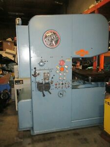 Doall Model 2613 3 186 Band Length 3ph Vertical Band Saw Nice _as described