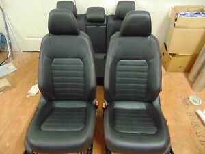11 12 13 14 Vw Mk6 Jetta Gli Black Leather Seats W Red Stitch Power Heated