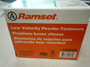 Ramset Powder Fastening Systems 3 inch Pin W ram Case Of 10 Boxes Of 100 Ea