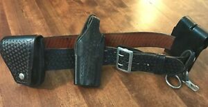 Smith Wesson Police Duty 38 Waist Belt Safariland S w 9mm Basket Weave Black