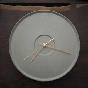 Round Wall Clock Silicone Mold  Cement Concrete DIY 12inches Modern Clock Mould $106.94
