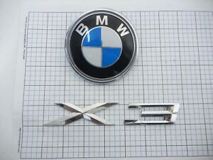 Bmw X3 E83 Trunk Emblem Bage Full Set Oem Used 04 05 06 07 08 09