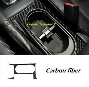 Carbon Fiber Car Inner Water Cup Holder Panel Trim For Subaru Forester 2013 2019
